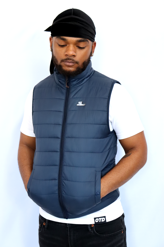Image of OTD Puffer Vest (Navy)