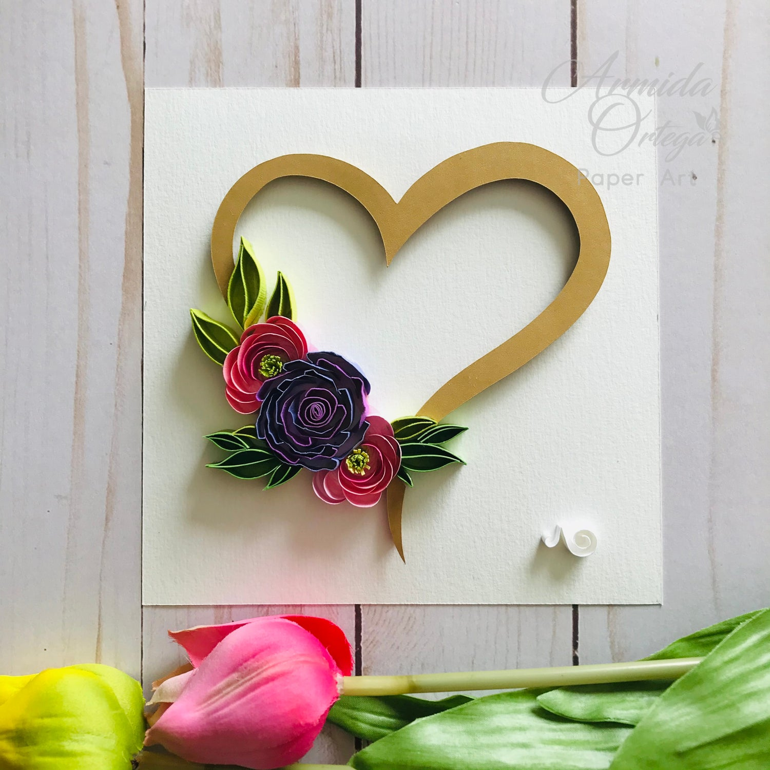 Image of HEART & FLOWERS