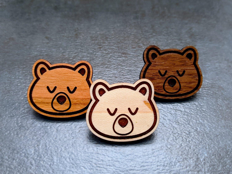 Mini Bear Wooden Pins
