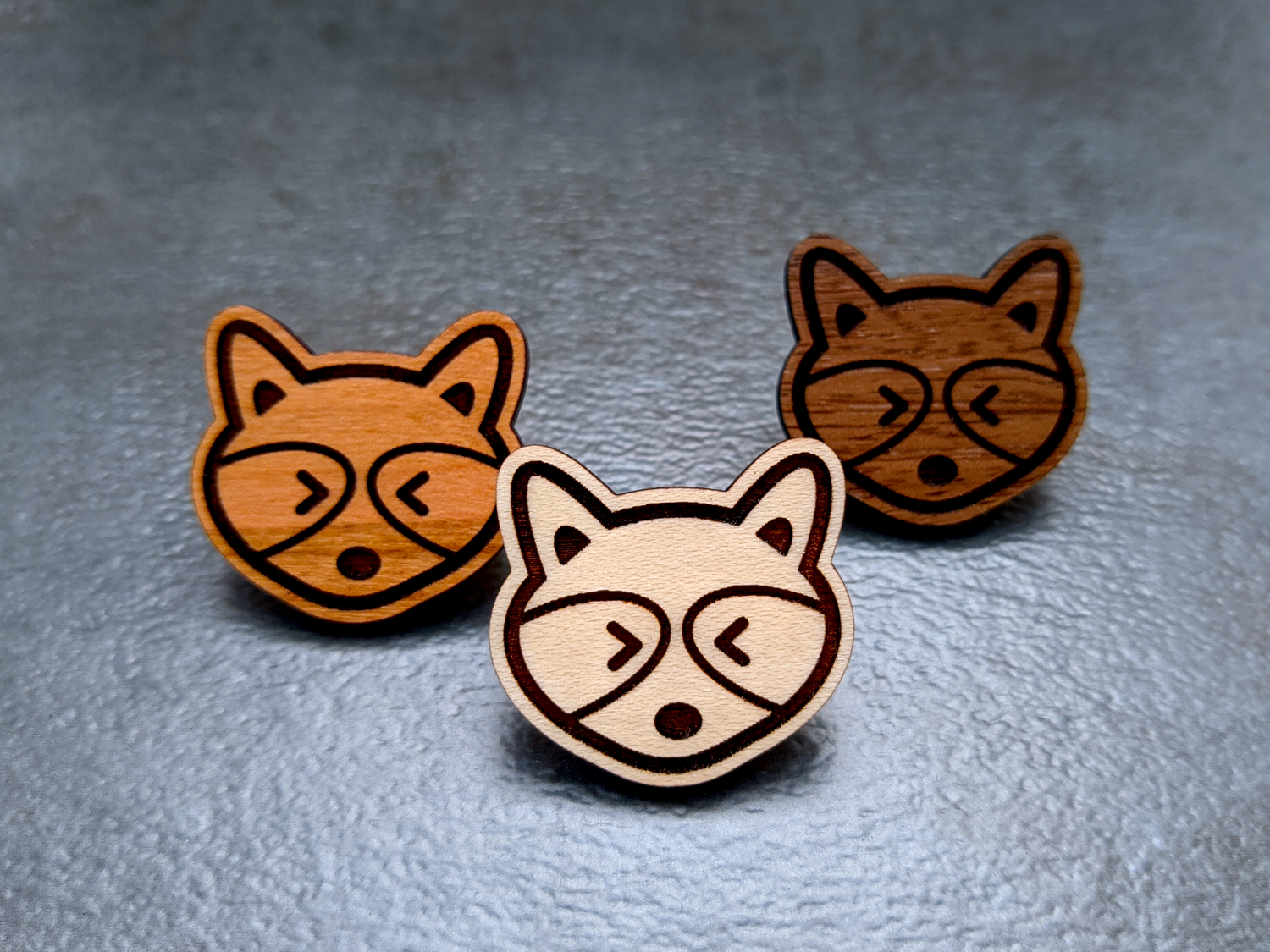 Mini Raccoon Wooden Pins