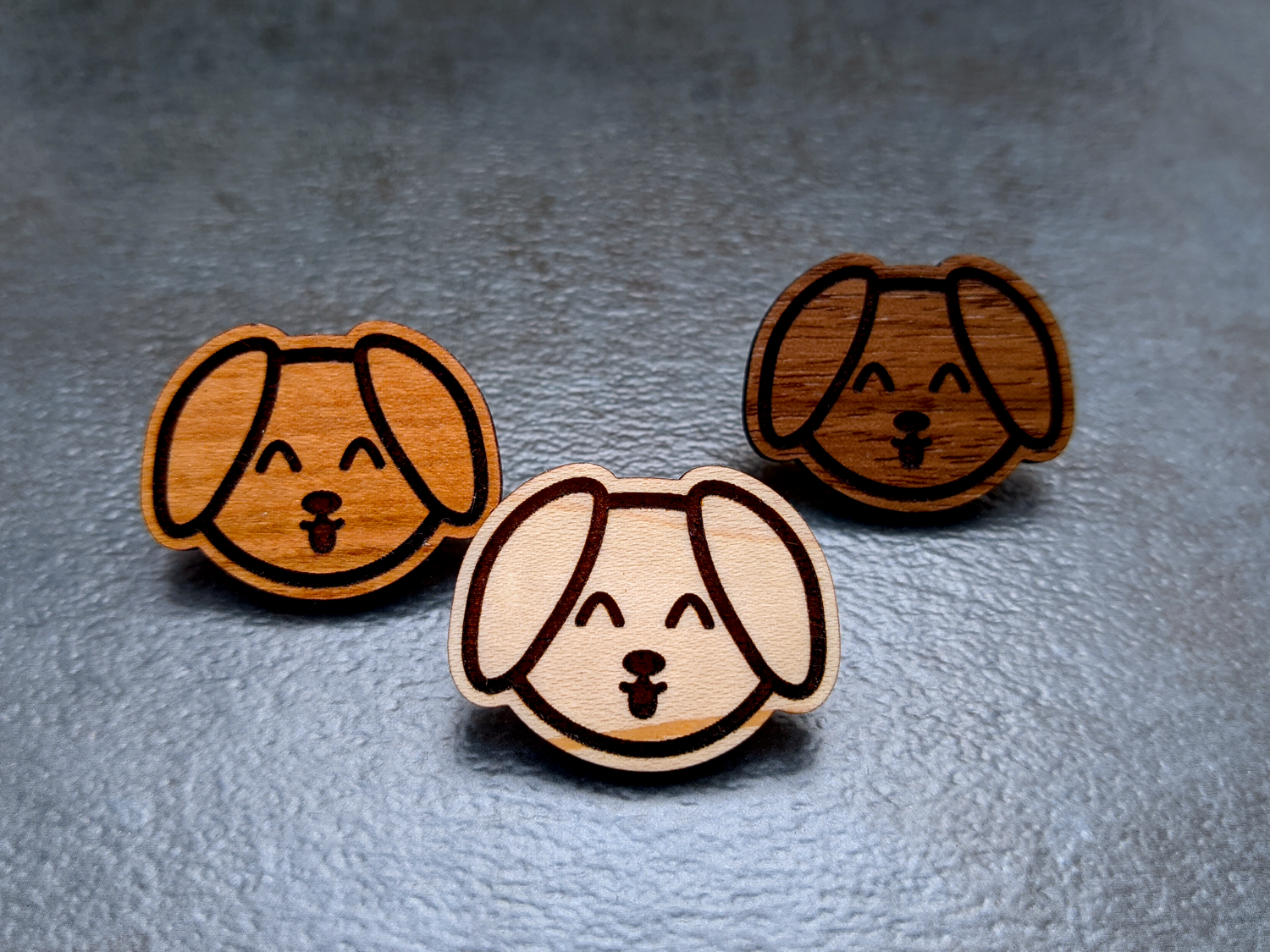 Mini Doggy Wooden Pins