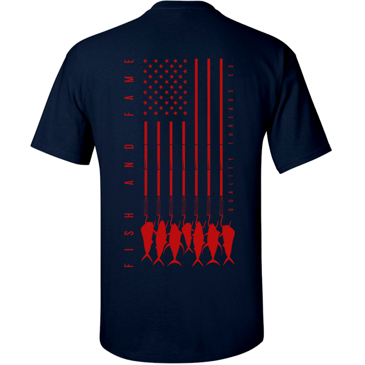 Image of US-747 Tee (navy/red)