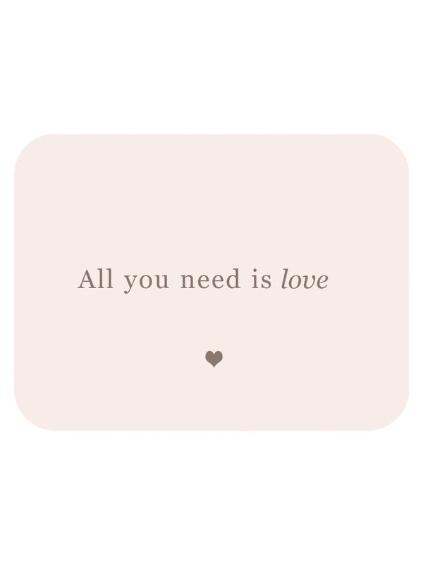 """Image of Carte postale """"ALL YOU NEED IS LOVE"""""""