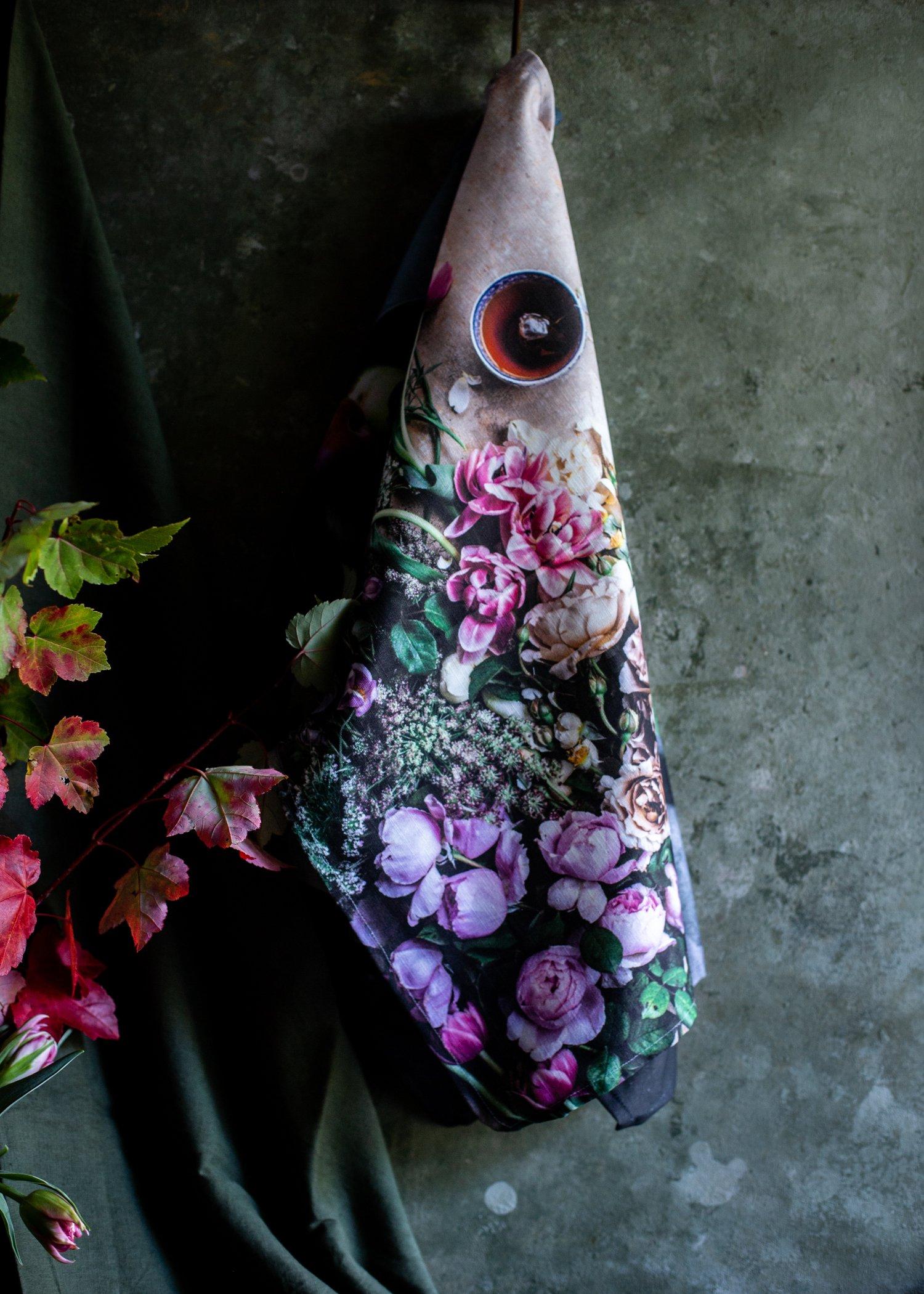 Image of Tea & blooms — Tea Towel