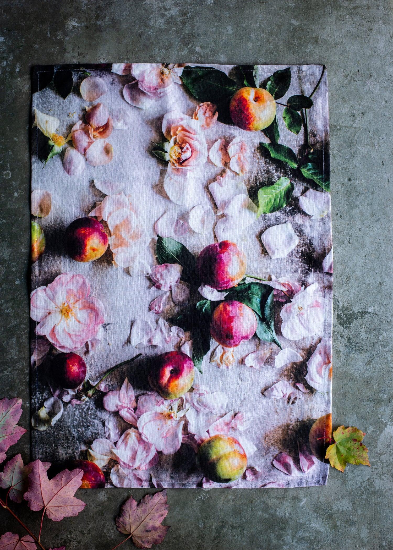 Image of Rosy posy plums — Tea Towel