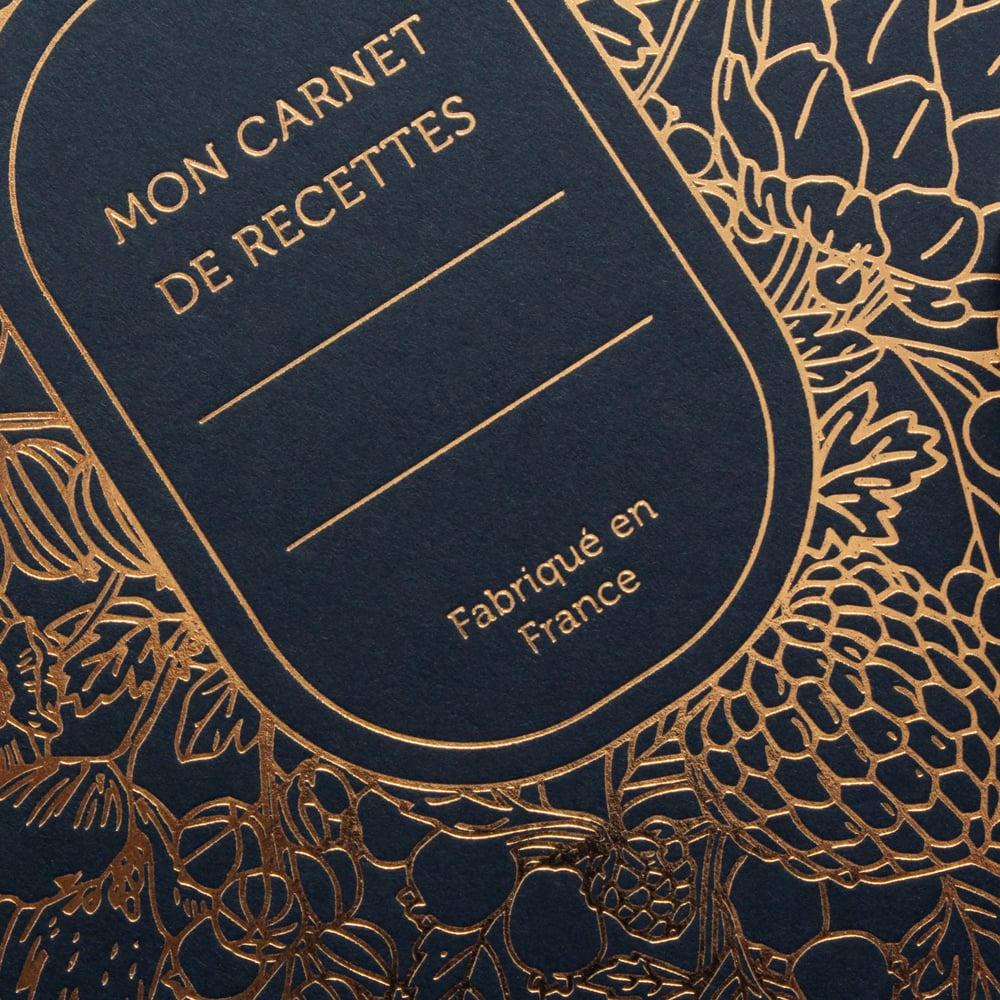 Image of CARNET DE RECETTES ABONDANCE bleu marine