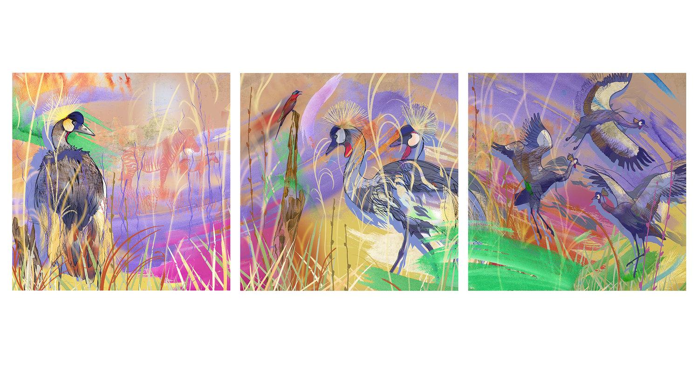 Image of Summer Heat I, II, III (Triptych)