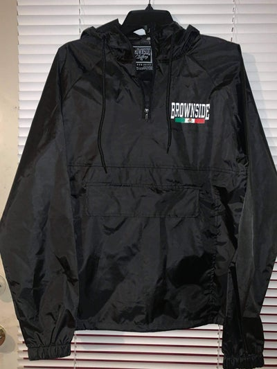 Image of BROWNSIDE NYLON PULL OVER WINDBREAKER