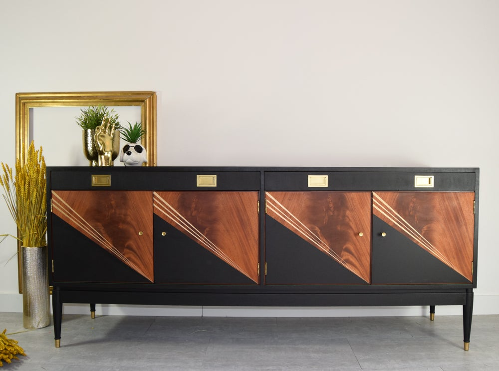 Image of Black & Gold Greaves and Thomas sideboard