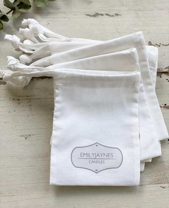 Image of Soft Organic Cotton Drawstring Bags