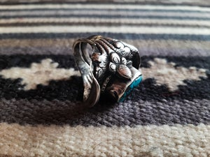 Image of 1960's Navajo silver saddle ring