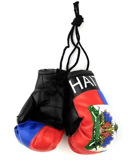 Image of Car Mirror Mini Haiti Boxing Gloves