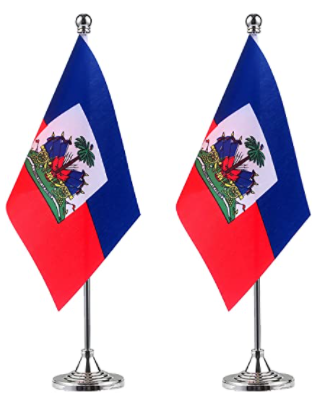 Image of Haiti Desk Flag Small Mini Haitian Office Table Flag