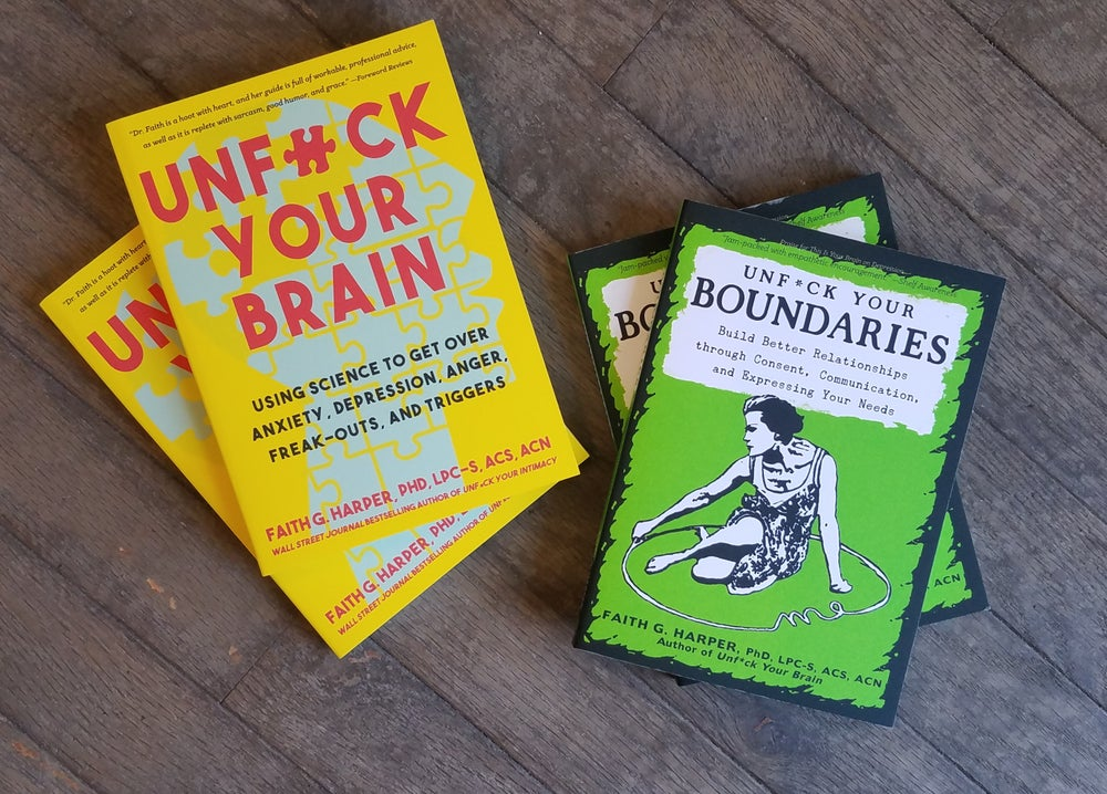 Image of UNF*CK Your Brain and UNF*CK Your Boundaries Book