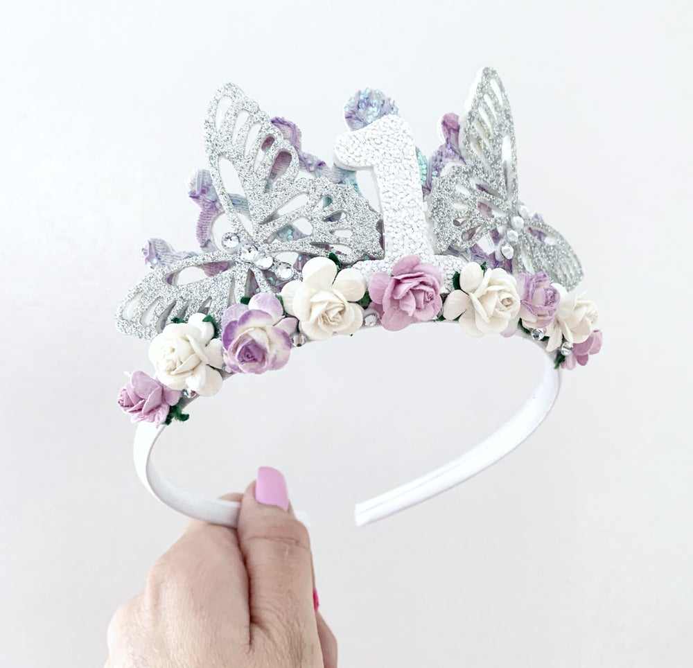 Image of Butterfly birthday tiara
