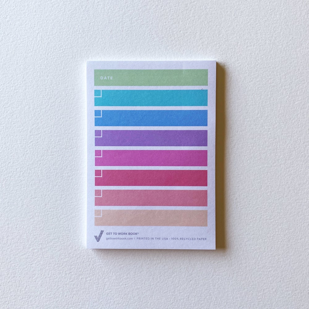 Image of RAINBOW TO DO LIST sticky note