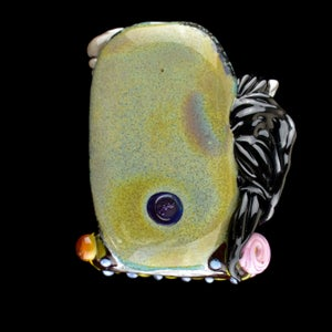 Image of XXXL. Spring Fling Carousel Horse - Flamework Glass Sculpture Bead