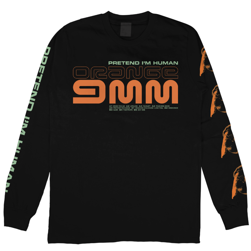 Image of Orange 9mm - Pretend I´m Human - Long Sleeve (PRE ORDER)