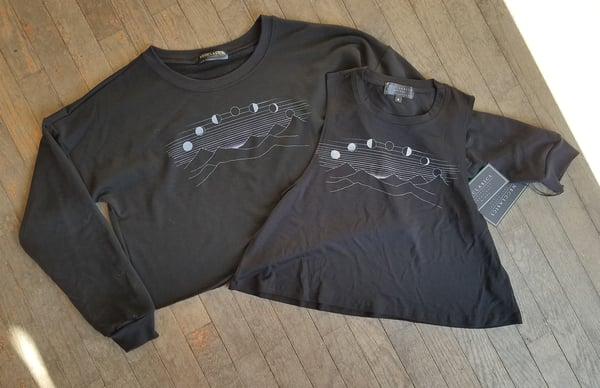Image of Crescent Moon Crop Sweatshirt and Tank