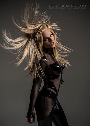 """Image of Derrick Barry Signed 5""""x7"""" Hairography Photo by Christopher DeVargas"""