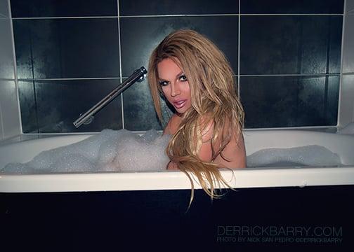 "Image of Derrick Barry Signed 5""x7"" Bathtub Photo by Nick San Pedro"