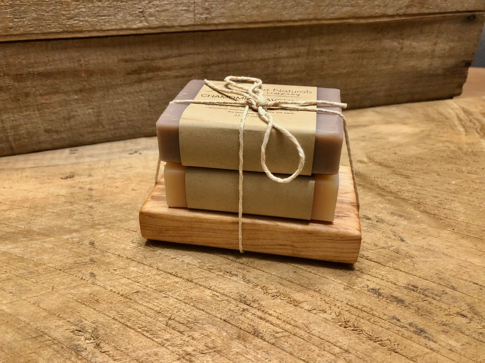 Image of Maple Soap Dish and Soap Set