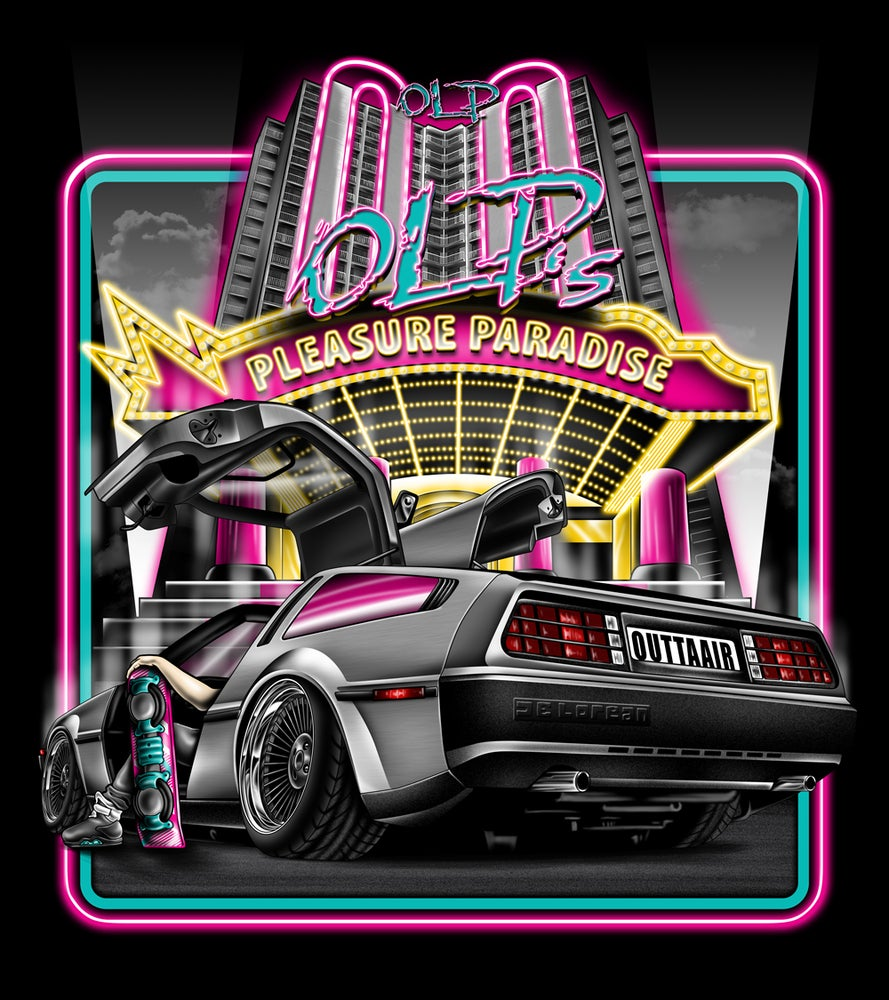 "Image of Back To The Future ""OUTTAAIR"" Artwork Sticker"