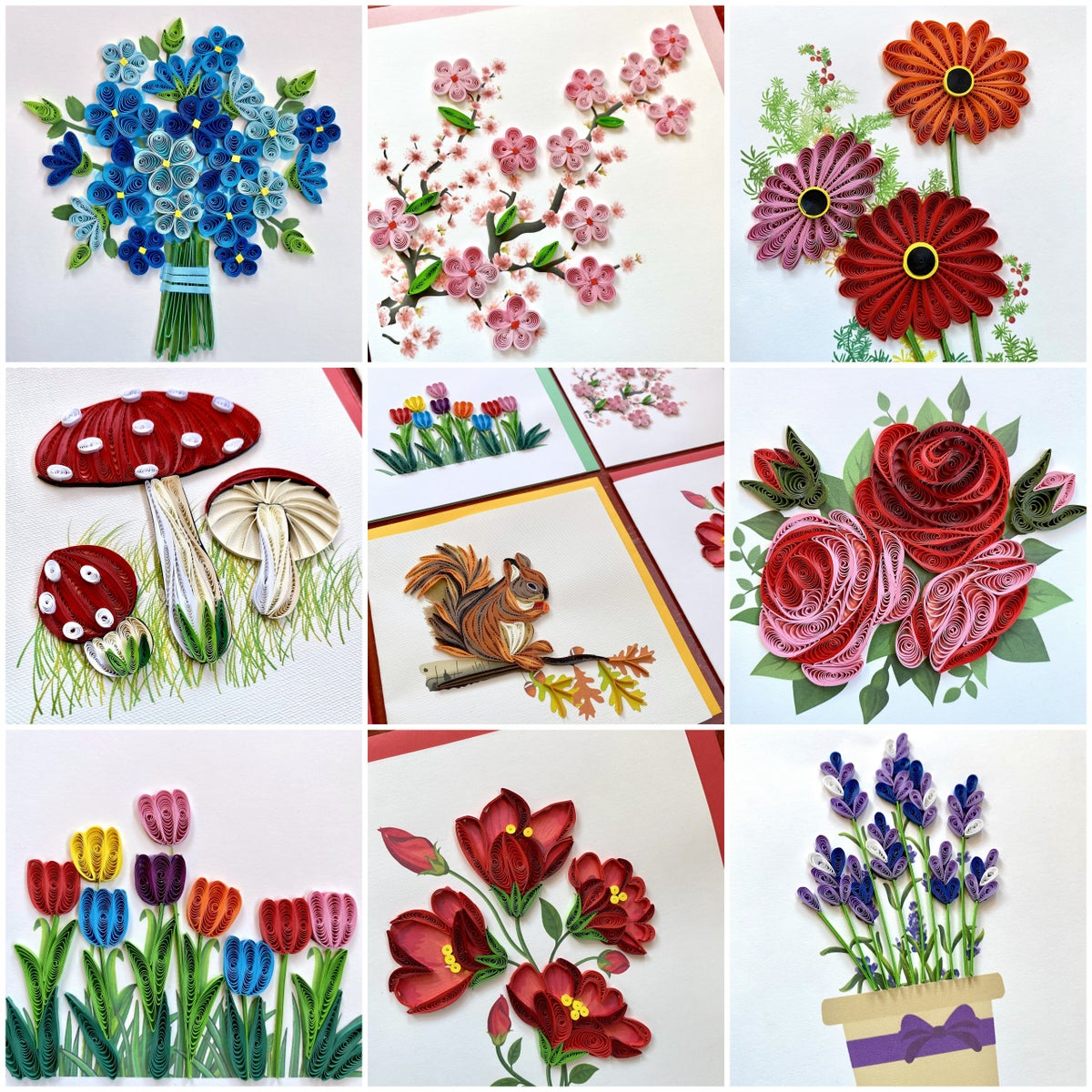 Image of Handmade Paper Quilled Cards