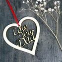 Love You Dad - Father's Day Card with woodcut keepsake