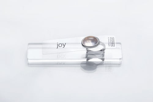 "Image of ""JOY"" silver ring with rose quartz  · 歓喜 ·"