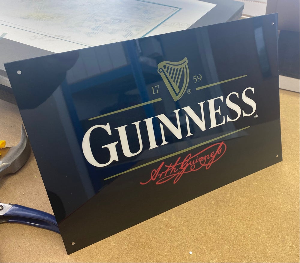 Black Guinness Metal A4 Sign