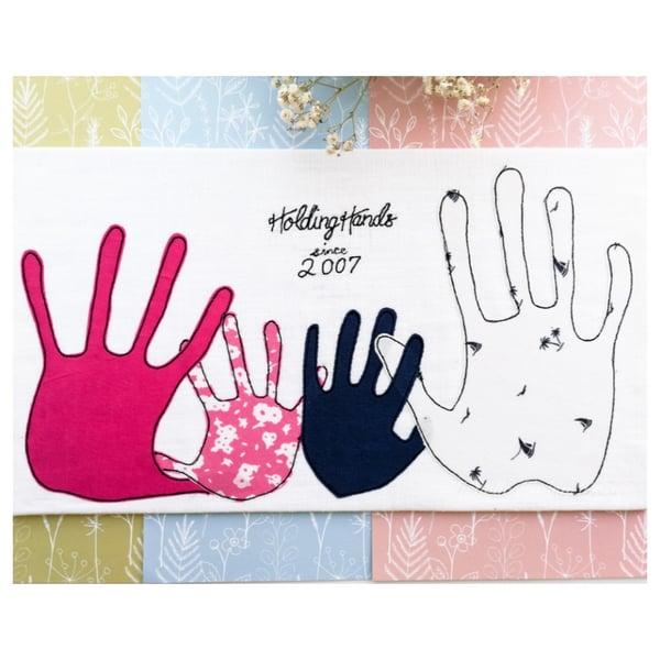 Image of Holding Hands Commissioned Art Work Keepsake
