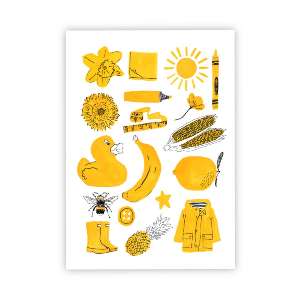 Image of Yellow things print