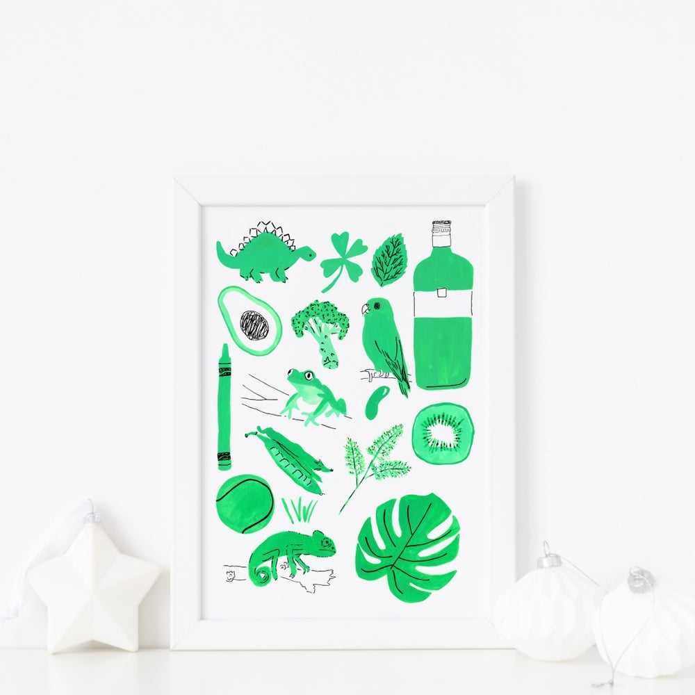 Image of Green things print