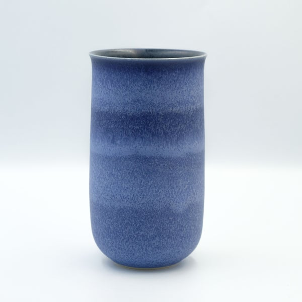 Image of FLARED UNIKA VASE IN INDIGO BLUE GLAZE