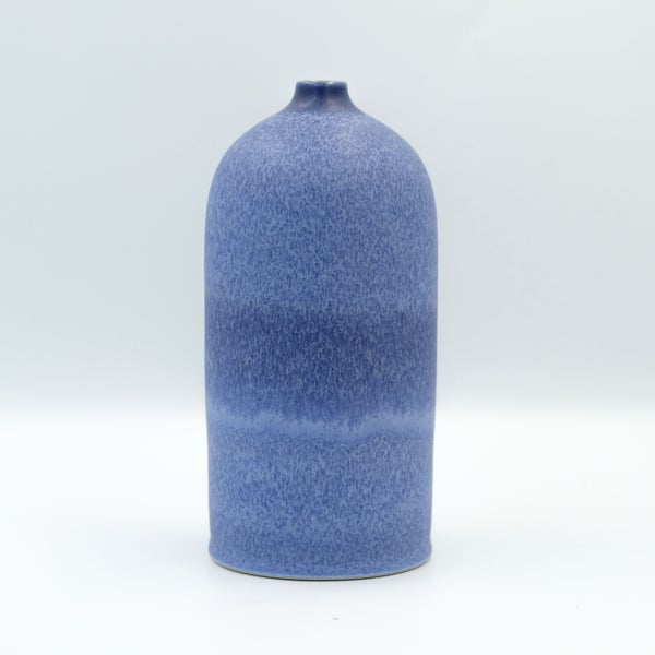 Image of SHOULDERED UNIKA BOTTLE IN INDIGO BLUE GLAZE