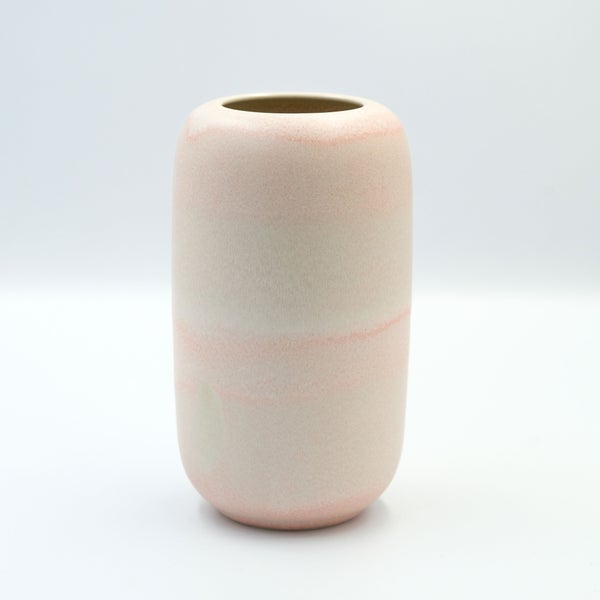 Image of UNIKA VASE IN CORAL GLAZE