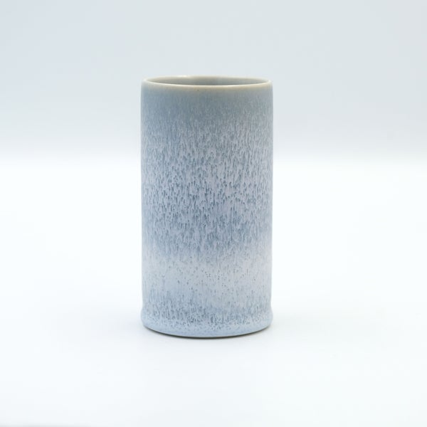 Image of MINI CYLINDER IN FROSTED BLUE GLAZE