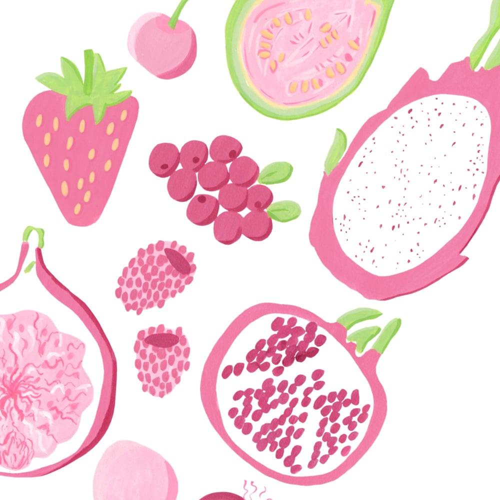 Image of Pink fruits