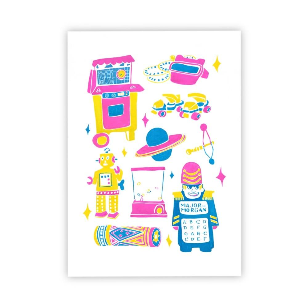 Image of Retro toys print