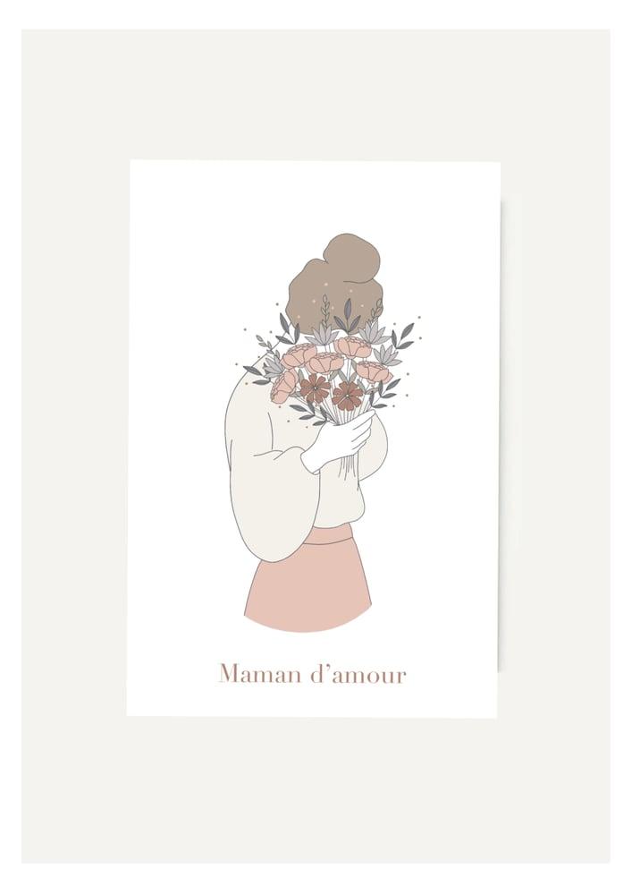 Image of Carte Maman d'amour bouquet