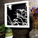 Papercut Framed Magpie Picture