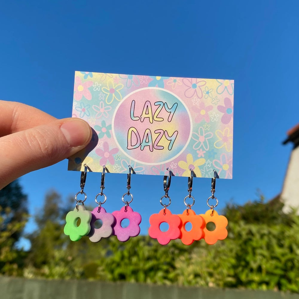 Image of Neon Ombre Dazy Hoops