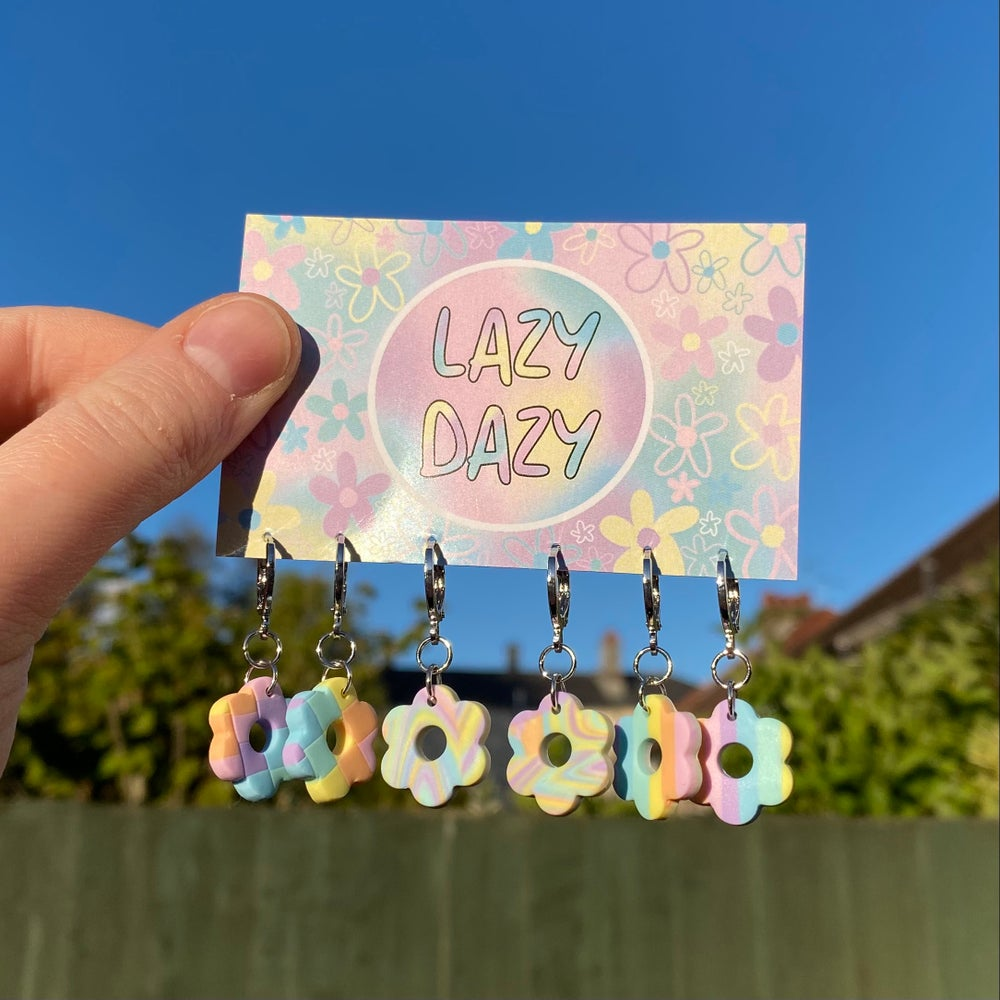 Image of Pastel Mix Dazy Hoops