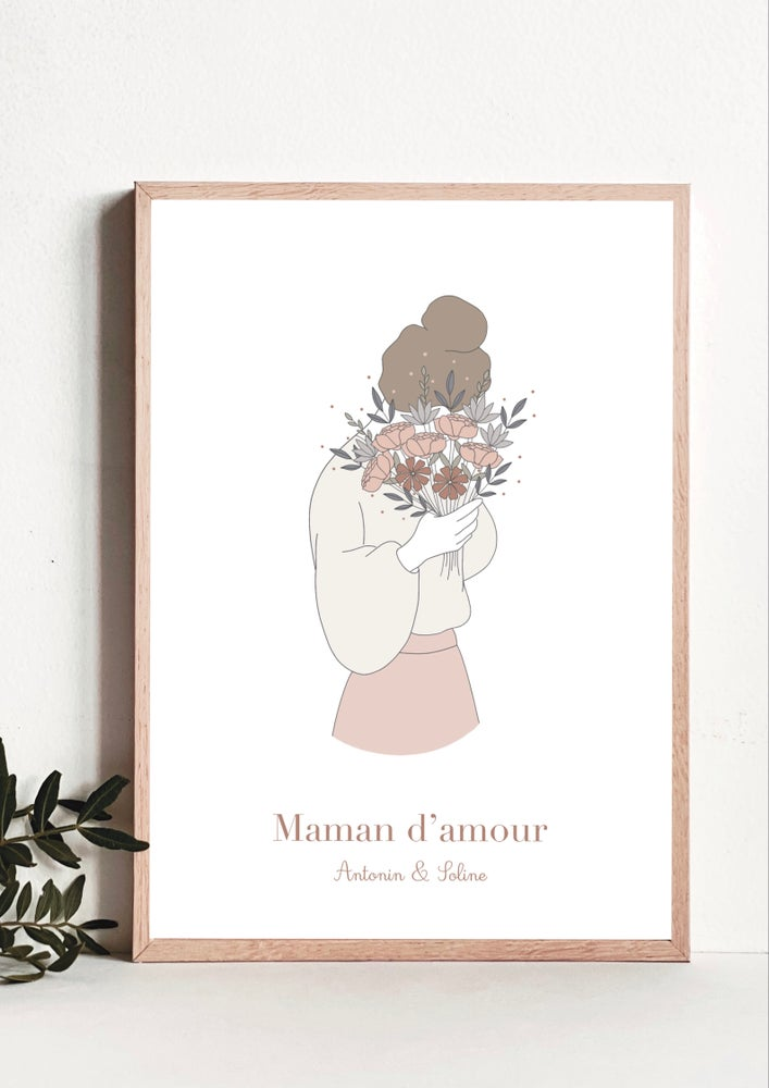 Image of Affiche Maman d'amour - personnalisable