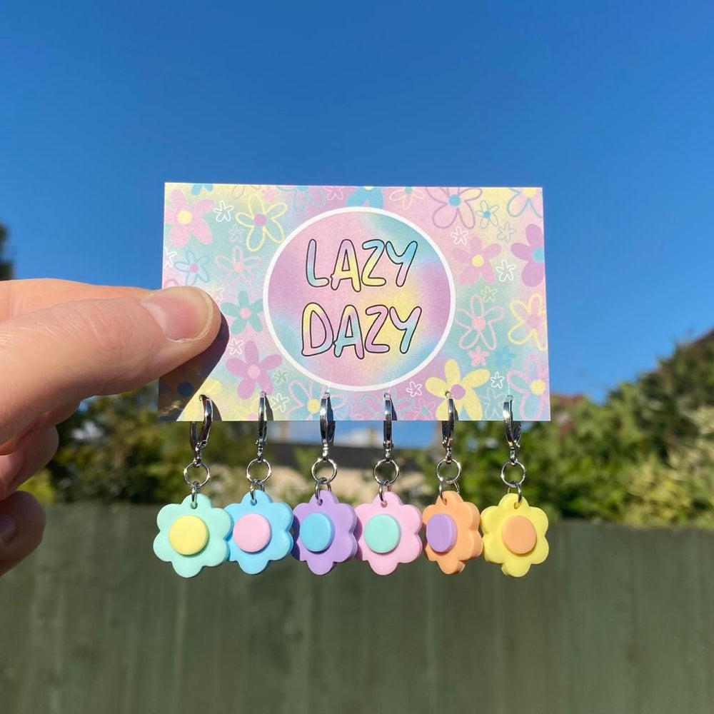 Image of Pastel Filled Dazy Hoops