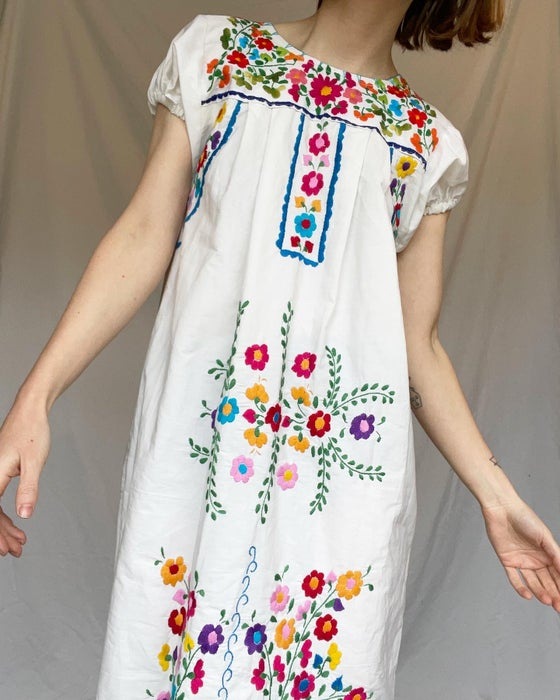 Image of 70's Embroidered Peasant Dress
