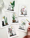 Cats + Plants: Pink Caladium, print