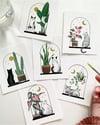 Cats + Plants: White Bird of Paradise, print