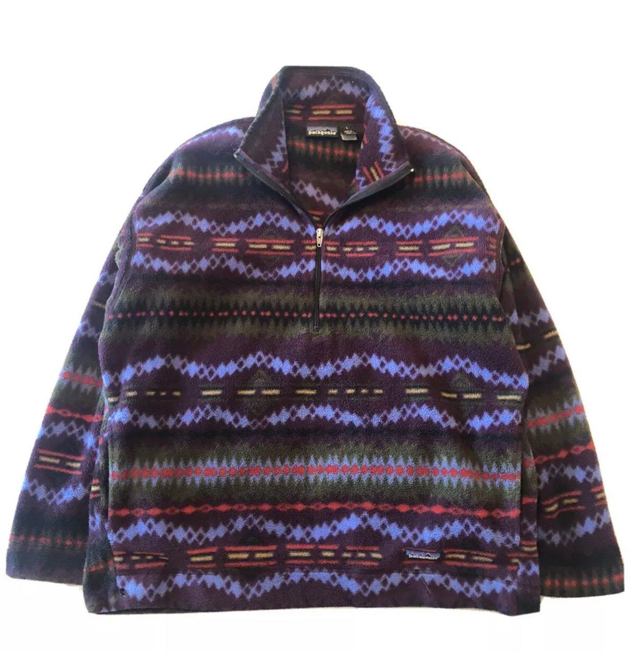 Image of Vintage Patagonia Fall 04 Aztec 1/2 Zip Reto Fleece Made USA L